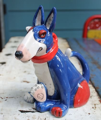 Terrier Dog Teapot - Blue
