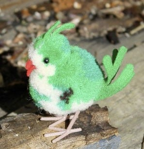 Steiff Woollen Exotic Bird Green 6cm $40