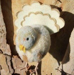 Steiff Woollen Dove 6cm $50