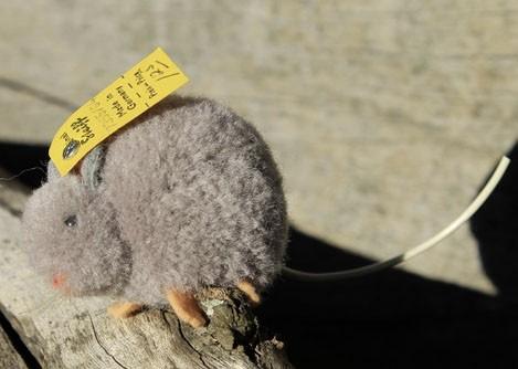 Steiff Woollen Mouse Grey 4cm $70