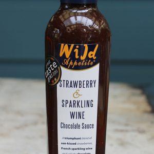 Strawberry & Sparkling Wine Chocolate Sauce