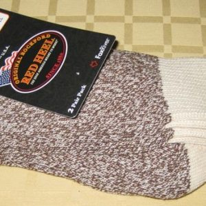 Rockford Red Heel Socks, SMALL SIZE, 2 PAIR BROWN