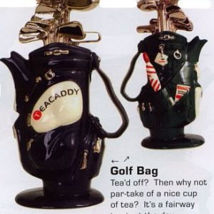 Golf Bag Front And Back Mid Size Black