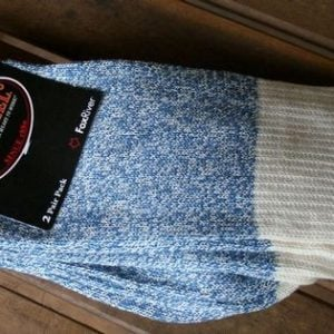 Rockford Red Heel Socks, MEDIUM SIZE, 2 PAIR BLUE