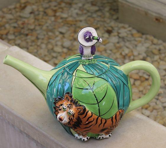 Tiger Teapot - Six Cups