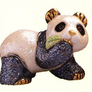 Rinconada Panda Bear Baby with Leaf F303
