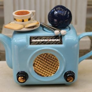 Teapottery Retro Radio Light Blue – Six Cup