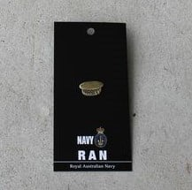 Badge - Navy Cap Brass