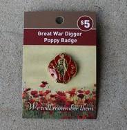 Badge – Poppy & Great War Digger