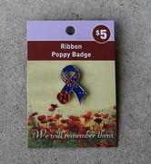 Badge – Poppy Ribbon