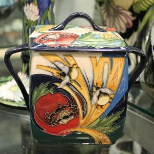 Moorcroft – 'Bees in Corn' Lidded Container