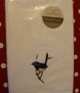 Hand Towel – Blue Wren