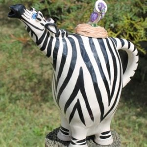 Zebra with Long Neck Teapot