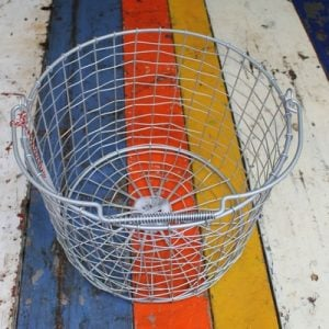 Bass Strait Fishing Basket – Round Small Zinc