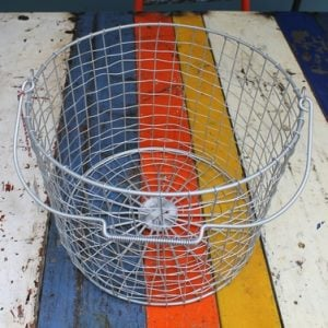 Bass Strait Fishing Basket – Round Medium Zinc
