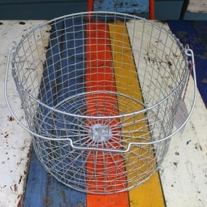 Bass Strait Fishing Basket – Round Large Zinc