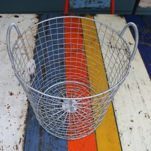 Bass Strait Fishing Basket – Tall Large Zinc