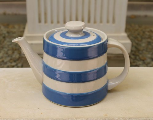 Cornishware Traditional Teapot - Blue/White