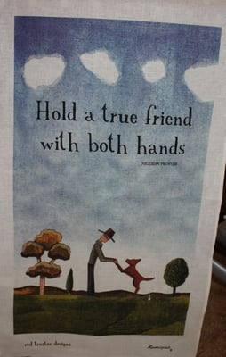 Teatowel - Hold a True Friend