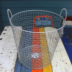 Bass Strait Fishing Basket – Tall Small Zinc