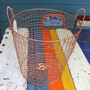 Bass Strait Fishing Basket - Tall Small Copper
