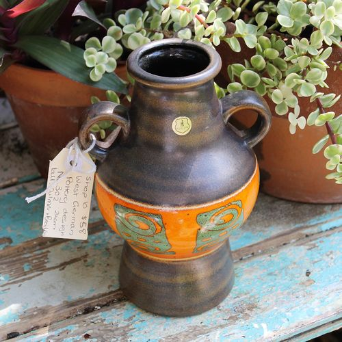 West German Pottery Vase Campbells Online Store