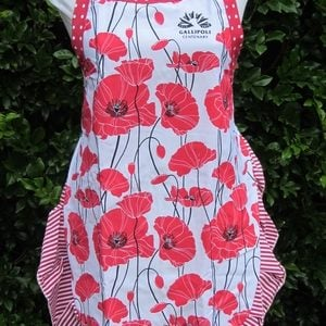 Apron – Gallipoli Poppies