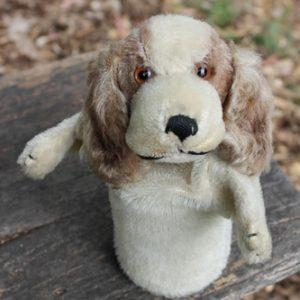 Steiff Cockie Cocker Spaniel Puppet – vintage 17cm