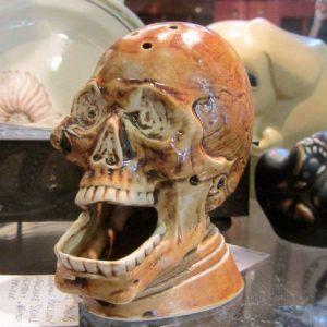 German Porcelain Skull