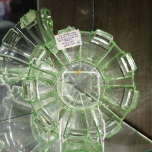 Depression Uranium Glass Bowl – Green Pylons