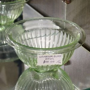 Depression Uranium Glass Bowl – Green