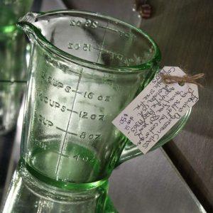 Depression Glass Measuring Jug