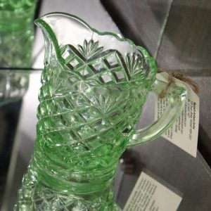 Depression Glass Jug - Small Diamonds