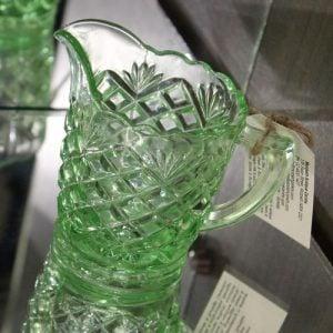 Depression Glass Jug – Small Diamonds