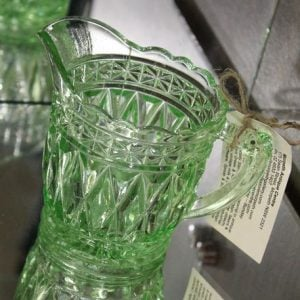 Depression Glass Jug – wide diamond