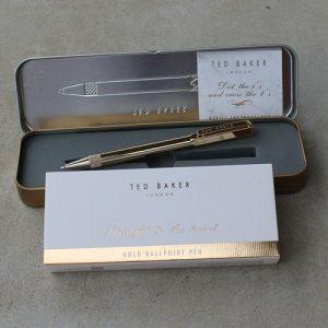 Ted Baker Ballpoint Pen Gold