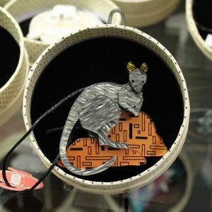 Erstwilder Brooch – 'Sure footed Shy Guy' Yellow Footed Rock Wallaby