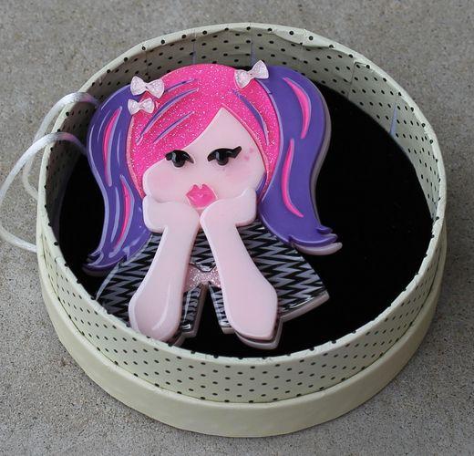 Erstwilder Brooch - Bubblegum Pop Princess