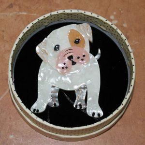 Erstwilder Brooch – 'Taciturn Taco' Bulldog