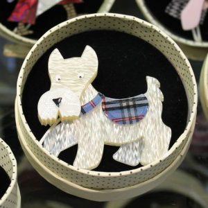 Erstwilder Brooch – 'Wallace' Scotty Dog