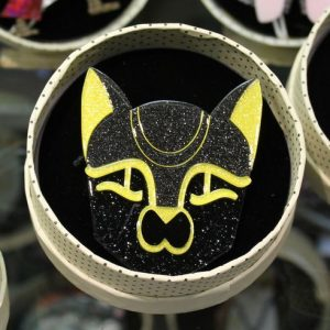 Erstwilder Brooch – 'Bast from the Past' Cat