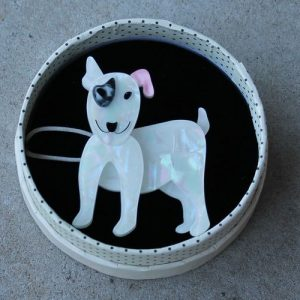 Erstwilder Brooch – Willie the White (Dog)