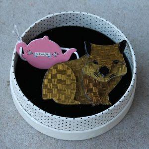 Erstwilder Brooch – Wary Warri Wombat