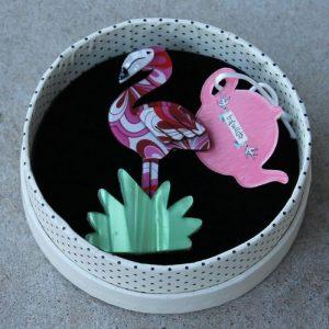 Erstwilder Brooch – Flamboyant Flamingo Funk