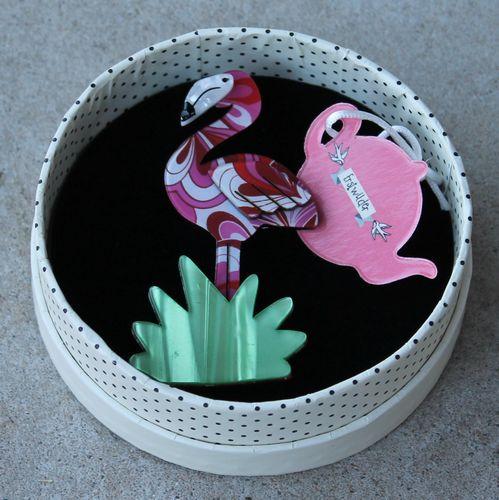 Erstwilder Brooch - Flamboyant Flamingo Funk