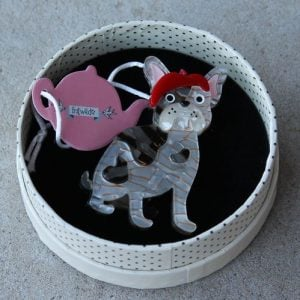 Erstwilder Brooch – Claude the Chic (French Bull Dog)