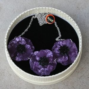Erstwilder Necklace - Poppy Field - Purple