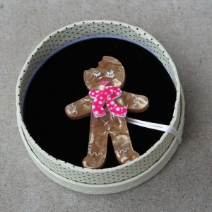 Erstwilder Brooch – Ginger the Christmas Cookie