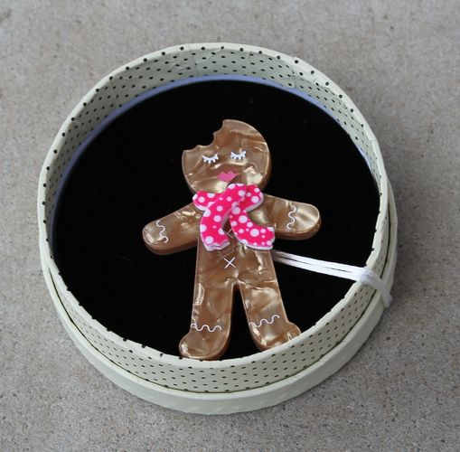 Erstwilder Brooch - Ginger the Christmas Cookie