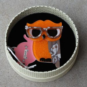 Erstwilder Brooch – Waldo the Wacky Wise Owl